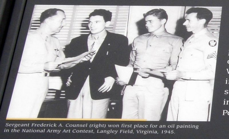 Insert - Sergeant Frederick A. Counsel (right) image. Click for full size.