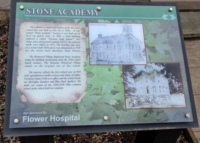 Stone Academy Marker image. Click for full size.