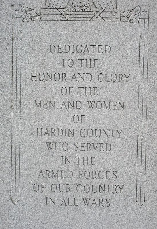 Hardin County War Memorial Marker image. Click for full size.
