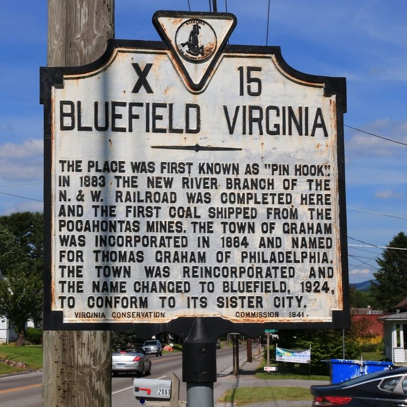 Bluefield Virginia Marker image. Click for full size.