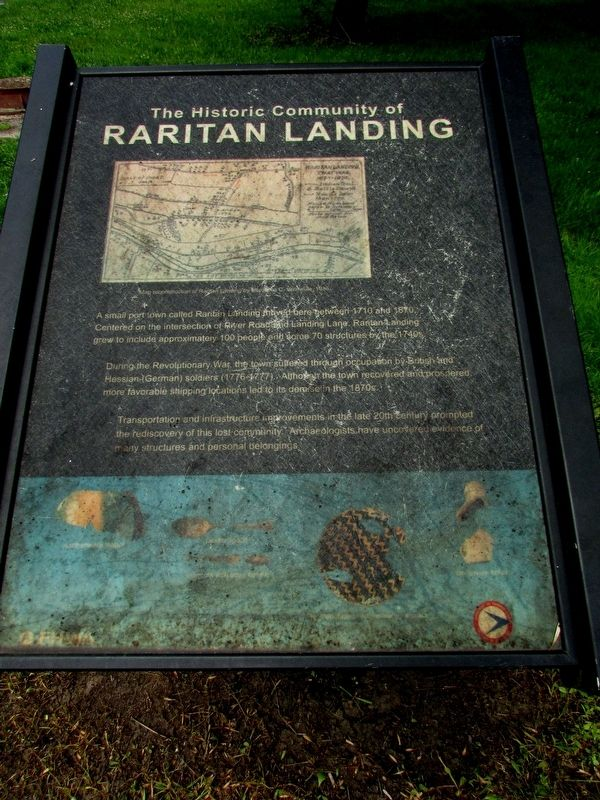 The Historic Community of Raritan Landing Marker image. Click for full size.