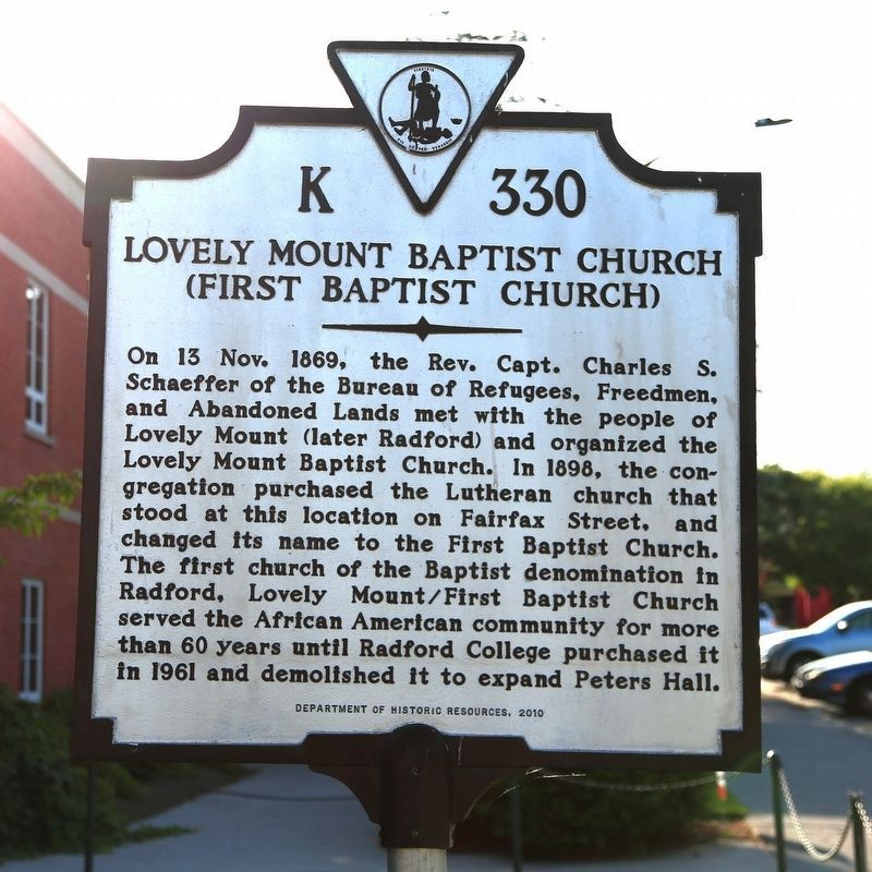 Lovely Mount Baptist Church Marker image. Click for full size.