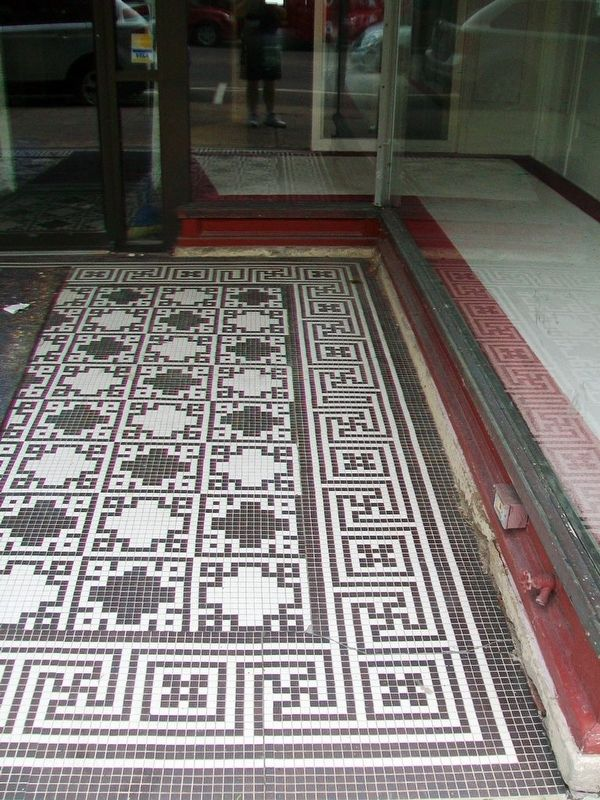 131 Main Street Entrance Floor Tiling Detail image. Click for full size.