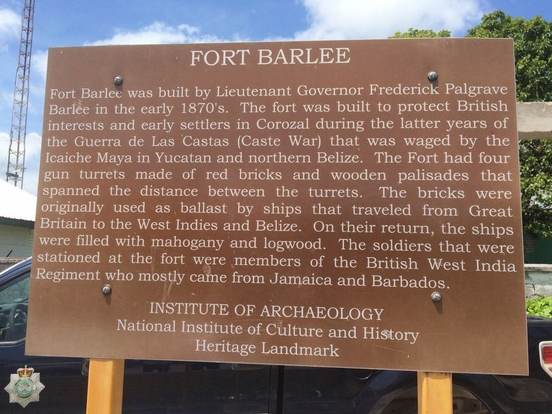 An additional, probably earlier, Fort Barlee Marker image. Click for full size.