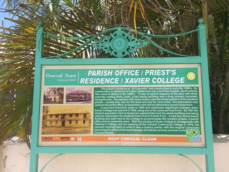 Parish Office/Priest's Residence/Xavier College Marker image. Click for full size.