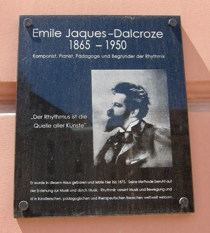 Emile Jacques-Dalcroze Marker image. Click for full size.