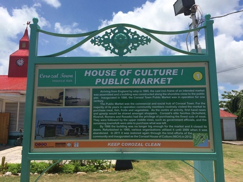House of Culture/Public Market Marker image. Click for full size.