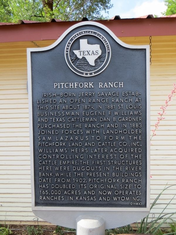 Pitchfork Ranch Marker image. Click for full size.
