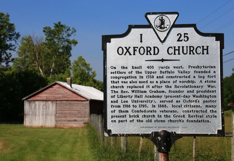 Oxford Church Marker image. Click for full size.