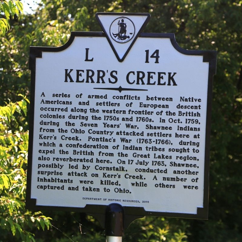 Kerr's Creek Marker image. Click for full size.