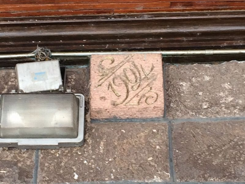 "Inauguration stones inscribed with ""1904"" at the Querétaro Railroad Station image. Click for full size."