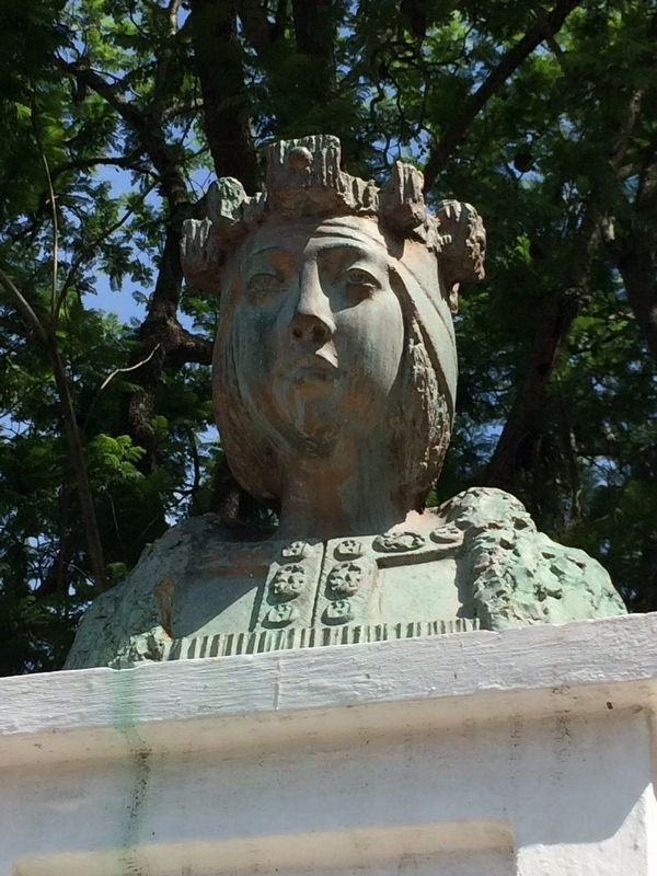 Isabella I of Castile monument bust detail image. Click for full size.