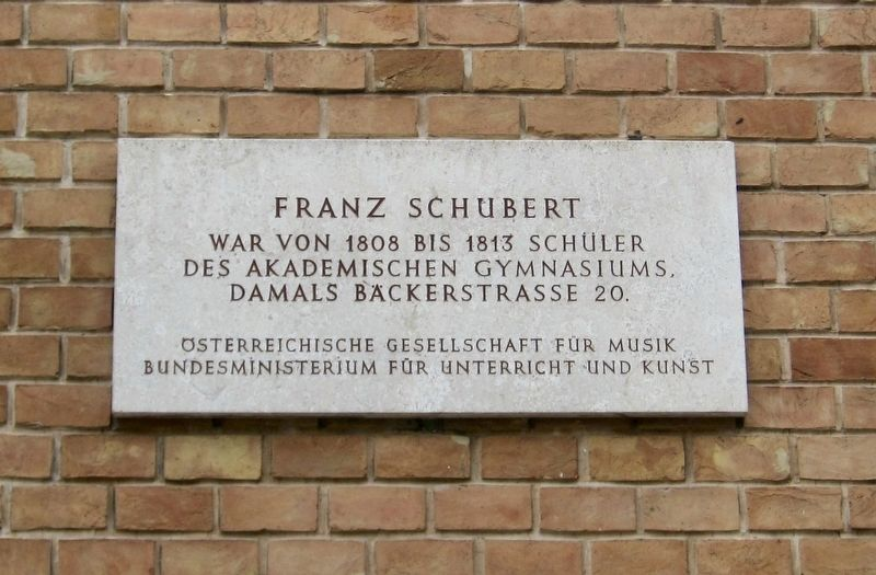 Franz Schubert Marker image. Click for full size.
