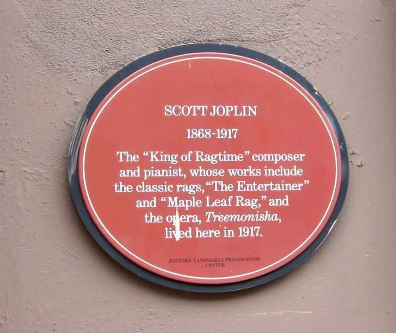 Scott Joplin Marker image. Click for full size.