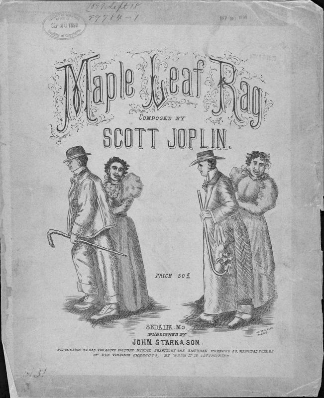 <i>The Maple Leaf Rag</i> Sheet Music Cover image. Click for full size.