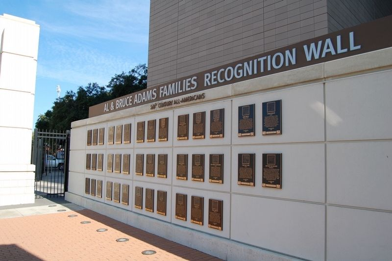 The Al & Bruce Adams Families Recognition Wall image. Click for full size.