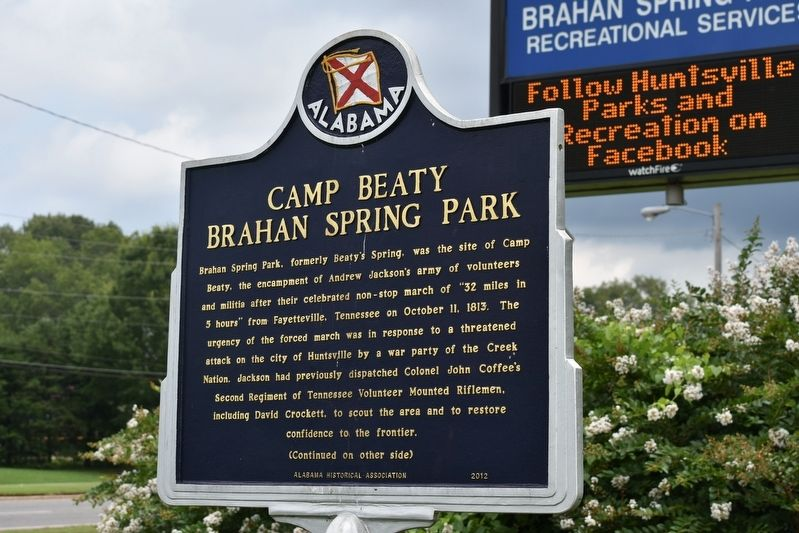 Camp Beaty Brahan Spring Park Marker image. Click for full size.