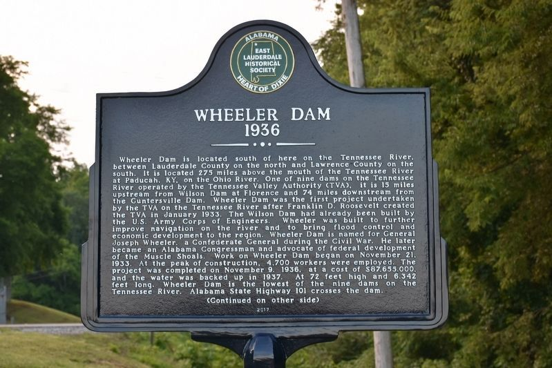 Wheeler Dam Marker image. Click for full size.