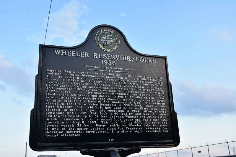 Wheeler Reservoir/Locks Marker image. Click for full size.