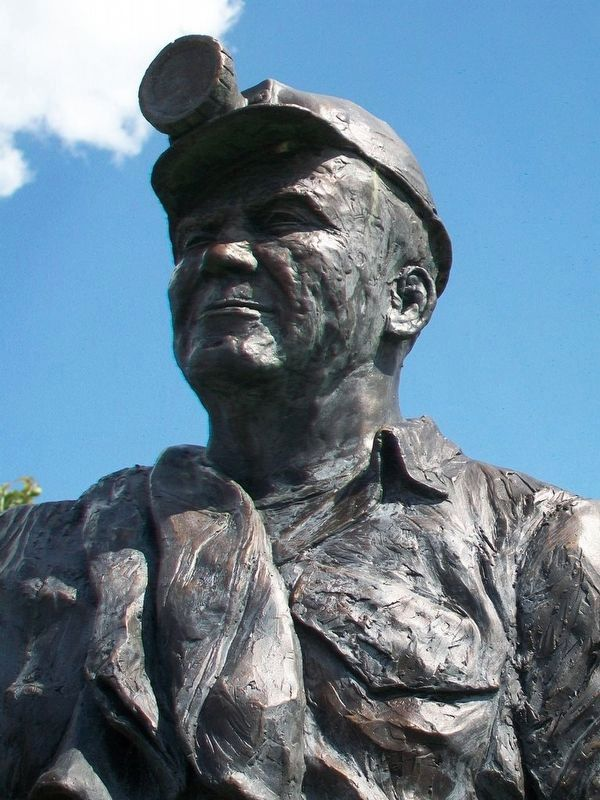 Coal Miners Memorial Sculpture Detail image. Click for full size.