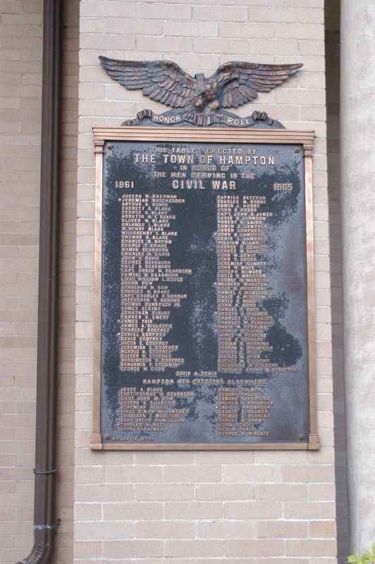 Hampton NH Honor Rolls Civil War and World War I Marker image. Click for full size.