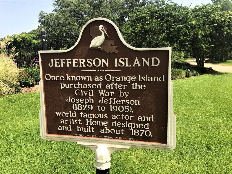 Jefferson Island Marker image. Click for full size.
