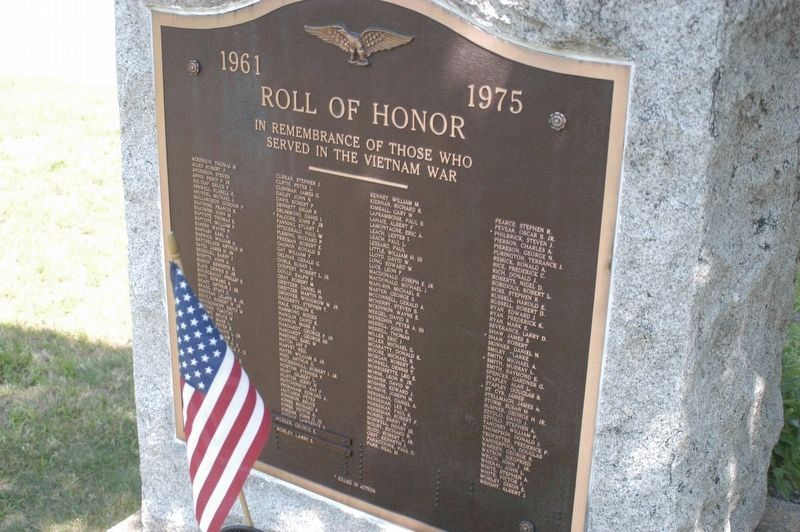 Rolls of Honor Viet Nam and Korean War image. Click for full size.