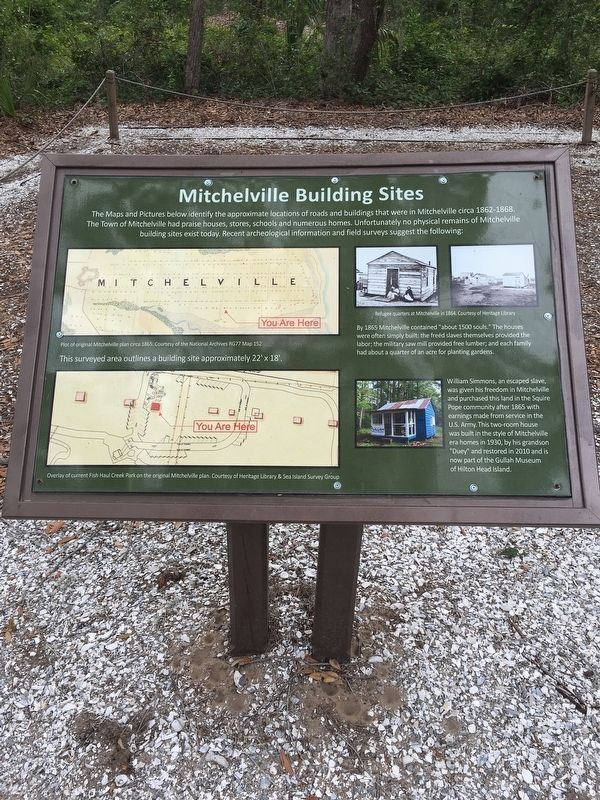 Mitchelville Building Sites Marker image. Click for full size.