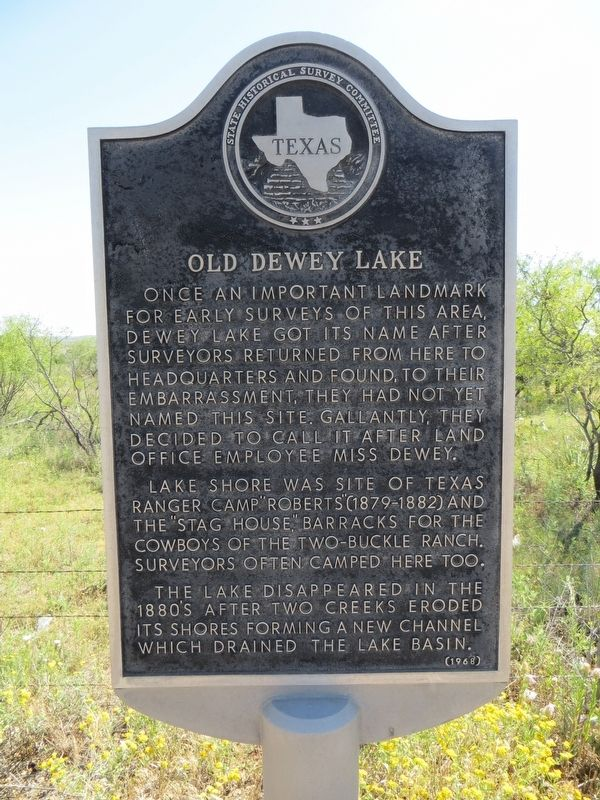 Old Dewey Lake Marker image. Click for full size.