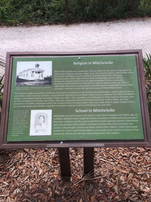 Religion in Mitchelville/School in Mitchelville Marker image. Click for full size.
