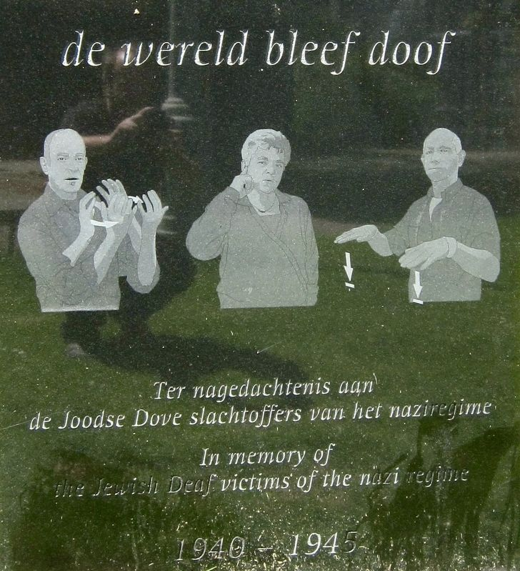 De Wereld Bleef Doof / The World Remained Deaf Marker image. Click for full size.
