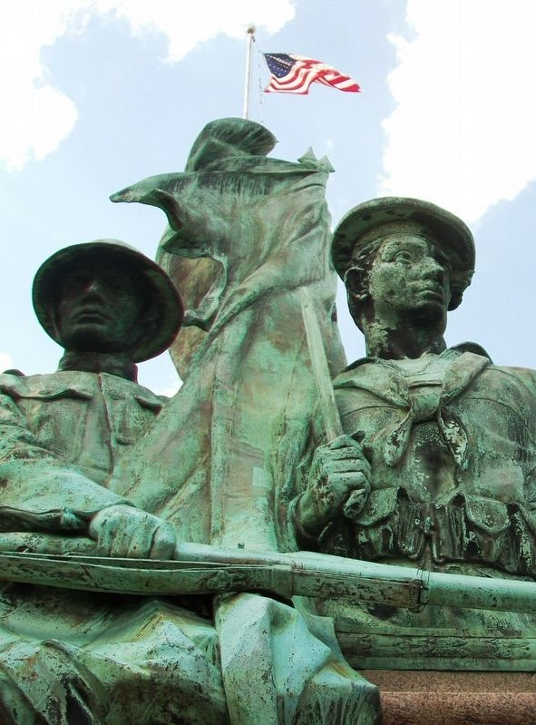 World War I Memorial Sculpture Detail image. Click for full size.