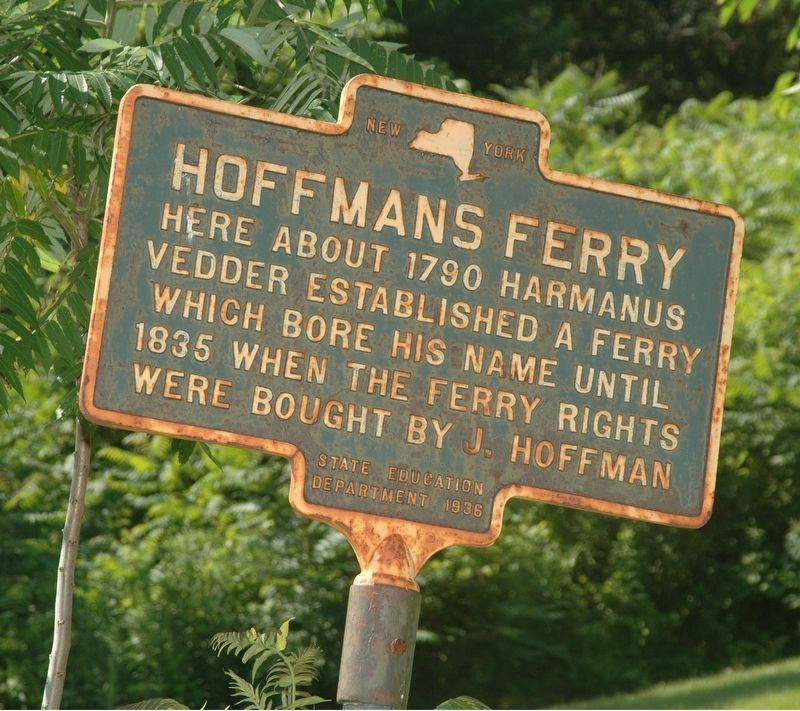 Hoffmans Ferry Marker image. Click for full size.