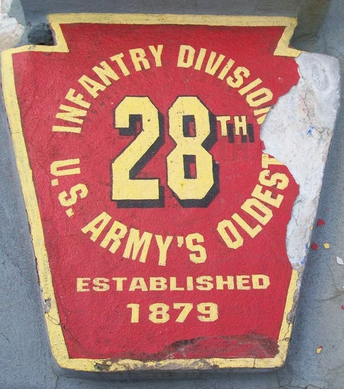 28th Infantry Division Memorial Marker image. Click for full size.
