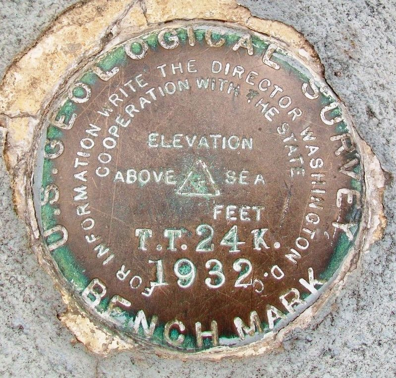 USGS Bench Mark on 28th Infantry Division Memorial Flag Pole Base image. Click for full size.