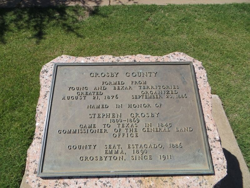 Crosby County Marker image. Click for full size.