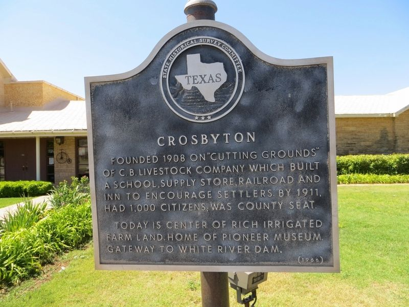 Crosbyton Marker image. Click for full size.