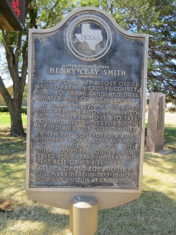 Henry Clay Smith Marker image. Click for full size.