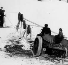Early rope tow image. Click for full size.