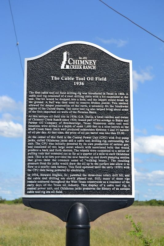 The Cable Tool Oil Field Marker image. Click for full size.
