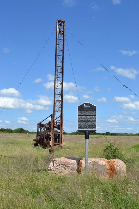 Marker near Cable Tool Drilling Rig image. Click for full size.
