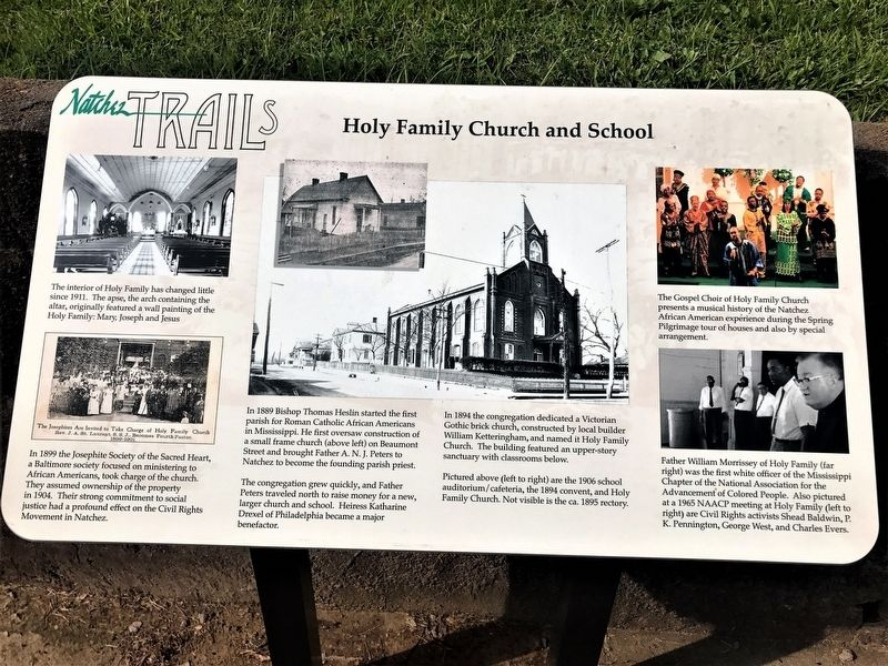 Holy Family Church and School Marker image. Click for full size.