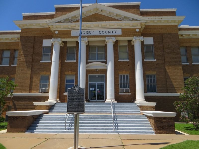 Crosby County Courthouse Marker image. Click for full size.