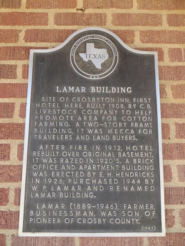 Lamar Building Marker image. Click for full size.