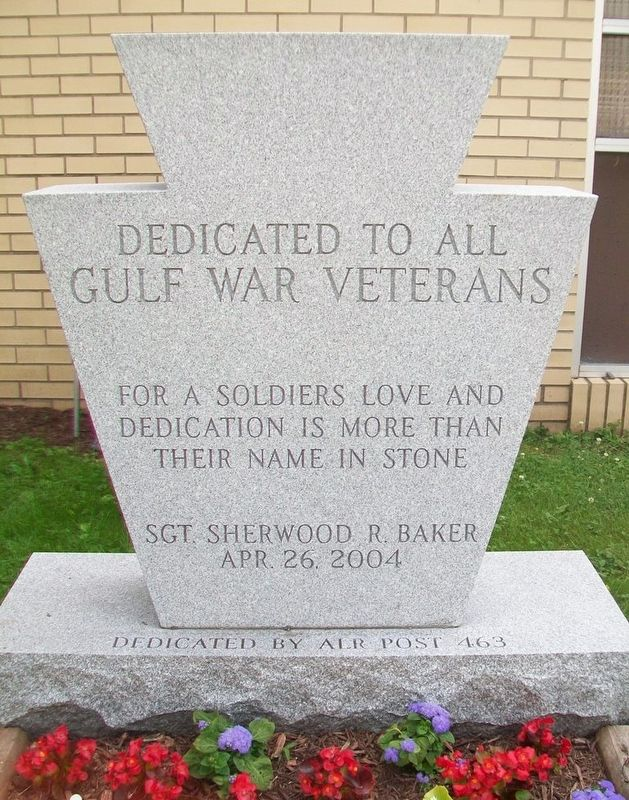 Gulf War Memorial image. Click for full size.