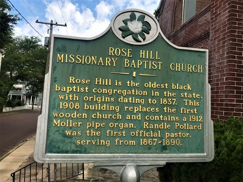 Rose Hill Missionary Baptist Church Marker image. Click for full size.