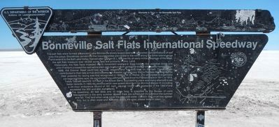 Bonneville Salt Flats International Speedway Marker image. Click for full size.
