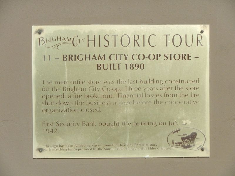 Brigham City Co-op Store Marker image. Click for full size.