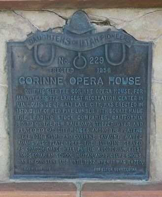 Corinne Opera House Marker image. Click for full size.