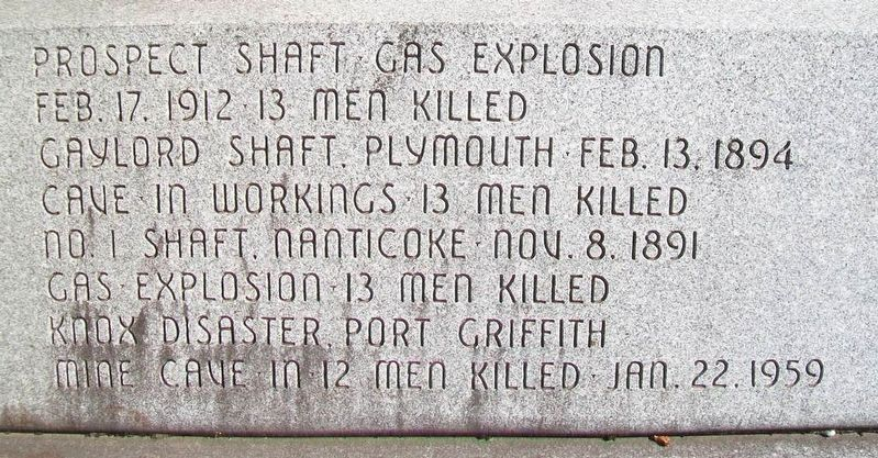 Coal Miners Memorial Mine Disasters image. Click for full size.